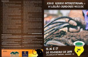 XXVIII RODEIO CRIOULO INTERESTADUAL DE 15 A 17/02/2019